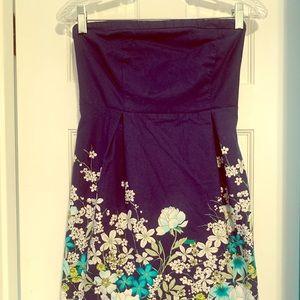 Old Navy Strapless Floral Dress